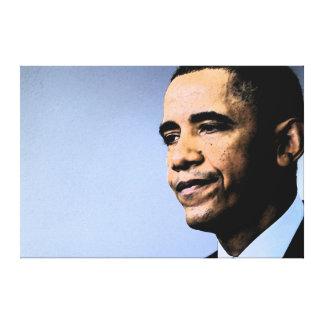 Impresión frustrada de la lona de Obama Impresión En Lona