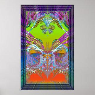 Impresión furtiva del arte de la variación 4 de la posters