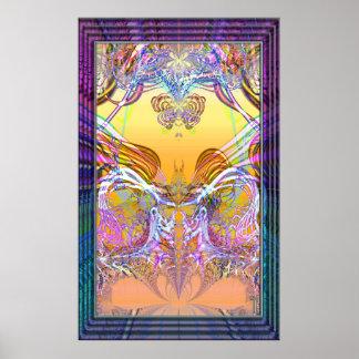 Impresión furtiva del arte de la variación 6 de la póster