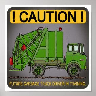 Impresión futura del poster del conductor del verd