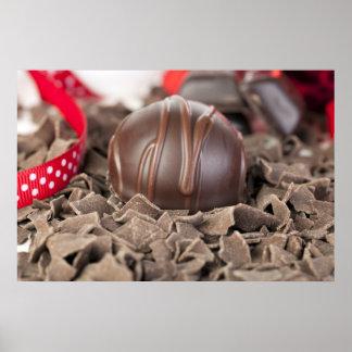 Impresión gastrónoma de los chocolates póster