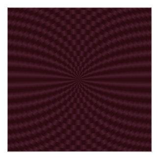 Impresión geométrica de color rojo oscuro de la cojinete