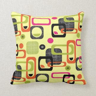 Impresión geométrica de la tela del estilo retro almohada