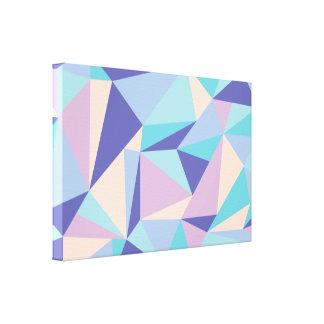 Impresión geométrica moderna de la lona lienzo envuelto para galerias