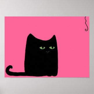 Impresión gorda del gato (elija su color, tamaño) impresiones