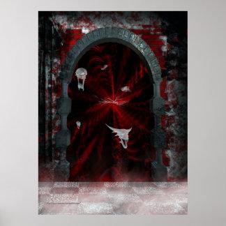 Impresión gótica de la fantasía de la puerta del i póster