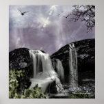 Impresión gótica de la fantasía del paisaje de la póster