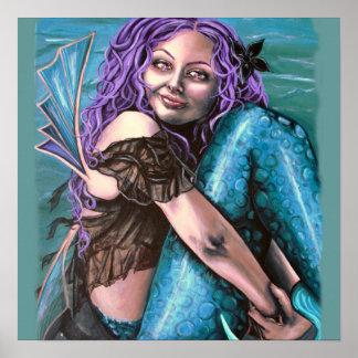impresión gótica de las ilustraciones de la sirena impresiones