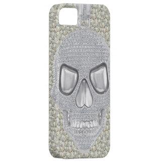 Impresión gótica de los diamantes del cráneo iPhone 5 carcasa