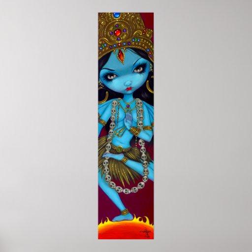 Impresión gótica del arte de la diosa hindú de Kal Póster