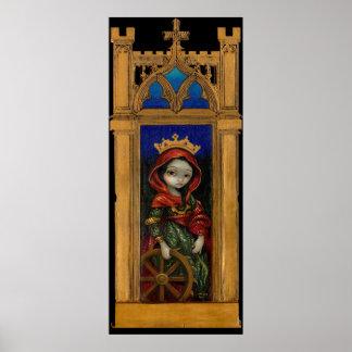 Impresión gótica del arte del icono de Catherine d Impresiones