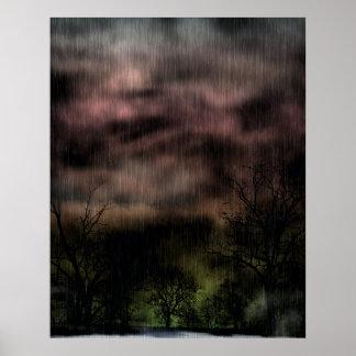 Impresión gótica del paisaje del dolor posters