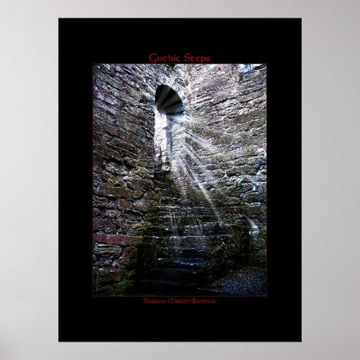 Impresión gótica irlandesa del poster de los pasos