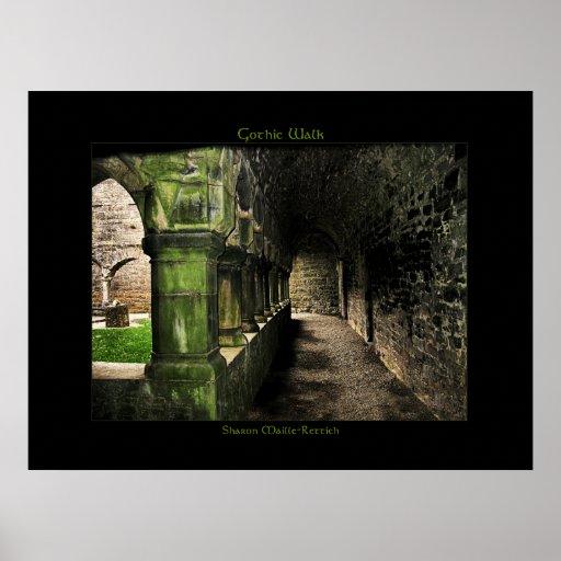 Impresión gótica irlandesa del poster del paseo