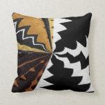 Impresión gráfica africana contemporánea almohadas