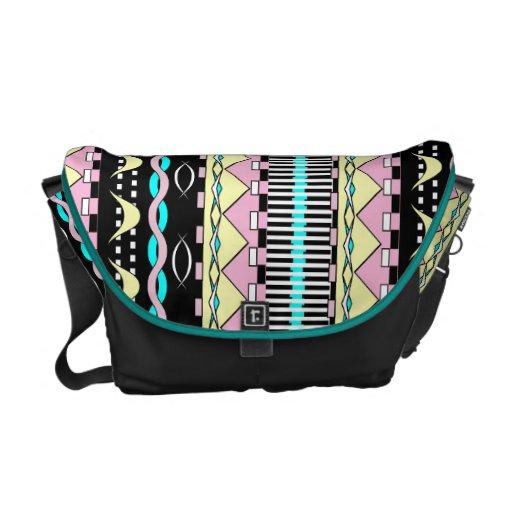 Impresión gráfica de la raya azteca brillante mode bolsas de mensajeria