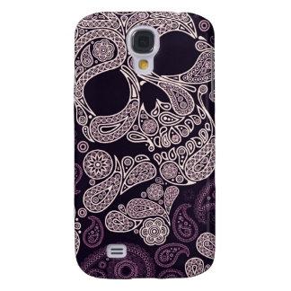 Impresión gráfica del cráneo de Paisley (púrpura) Carcasa Para Galaxy S4