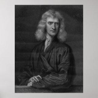 Impresión grande de Isaac Newton en la alta resolu
