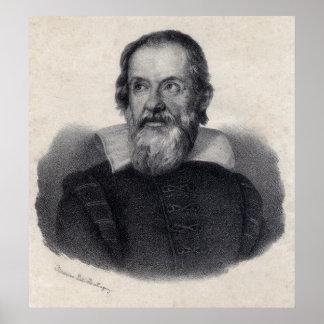 Impresión grande del arte de Galileo Galilei Póster