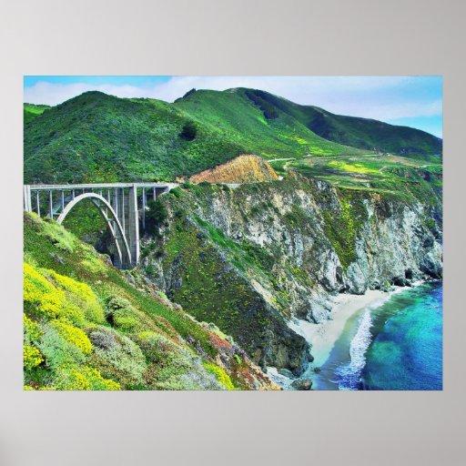 Impresión grande del puente de Sur Bixby Posters