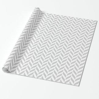 Impresión gris clara de la raspa de arenque papel de regalo