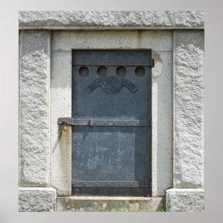 Impresión gris de la puerta impresiones