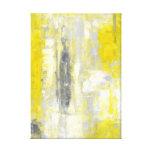Impresión gris y amarilla de la lona de arte abstr lona estirada galerías