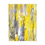 Impresión gris y amarilla de la lona de arte abstr lona estirada galerias