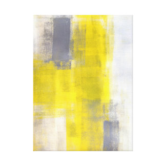 Impresión gris y amarilla de la lona de arte abstr impresión en lona