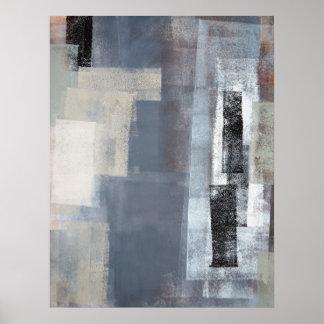"""Impresión gris y beige """"bloqueada"""" del poster del"""