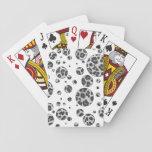 Impresión gris y gris clara del leopardo cartas de juego