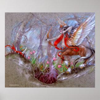 IMPRESIÓN - guerrero con alas Centaur Poster