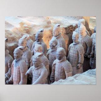 IMPRESIÓN - guerreros Xián China de la terracota Impresiones