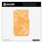 Impresión hawaiana anaranjada iPod touch 4G calcomanías