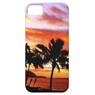 Impresión hawaiana de la puesta del sol iPhone 5 Case-Mate fundas