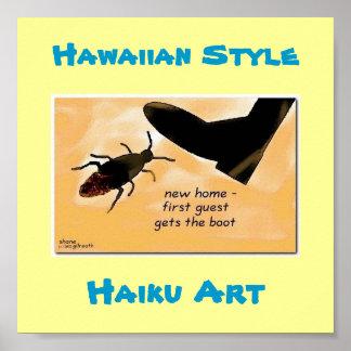 """Impresión hawaiana del arte del Haiku de la """"prime Poster"""