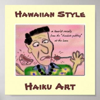 Impresión hawaiana del arte del Haiku de Luau del  Impresiones