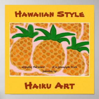 IMPRESIÓN HAWAIANA DEL ARTE DEL HAIKU DEL ESTILO D IMPRESIONES