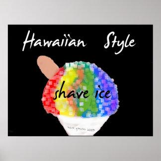 Impresión hawaiana del arte del hielo del afeitado impresiones