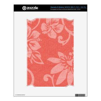 Impresión hawaiana roja skin para el NOOK