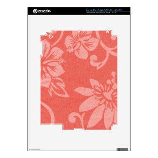 Impresión hawaiana roja iPad 3 pegatina skin