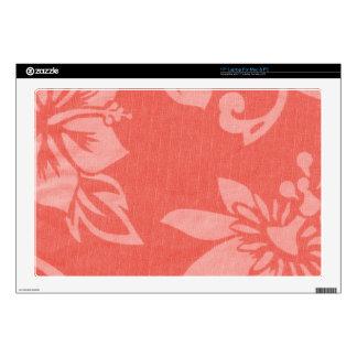 Impresión hawaiana roja portátil calcomanía