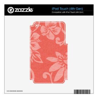 Impresión hawaiana roja iPod touch 4G skins