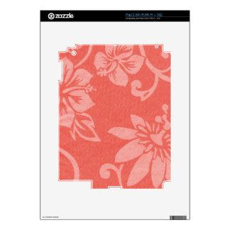 Impresión hawaiana roja iPad 2 skins
