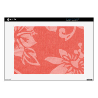 Impresión hawaiana roja portátil 38,1cm skins