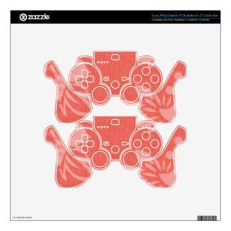 Impresión hawaiana roja calcomanía para mando PS3