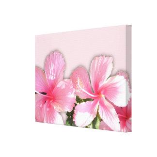 Impresión hawaiana rosada de la lona de las flores impresión en lona