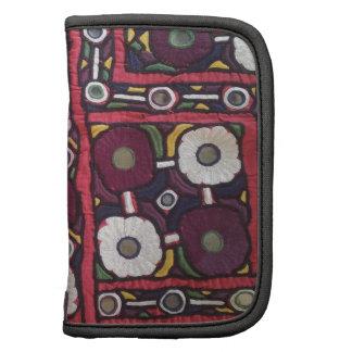 Impresión hecha a mano india de la materia textil  planificador