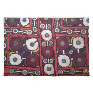 Impresión hecha a mano india de la materia textil  mantel individual