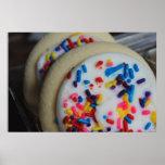 Impresión helada de la galleta de azúcar posters